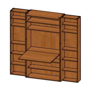 Шкаф для рукоделия Омега Малый Эконом
